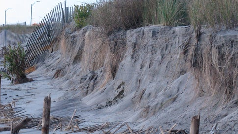 Tropical Storm Melissa Erodes New Jersey Dunes Into Cliffs