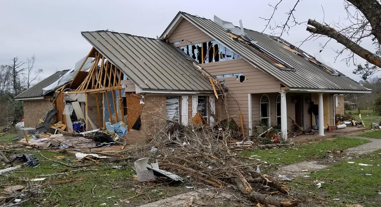 The Leon County Sheriff's Office in Florida said five homes in the Baum community were destroyed by a tornado on Sunday, March 3, 2019. (Leon County Sheriff's Office)
