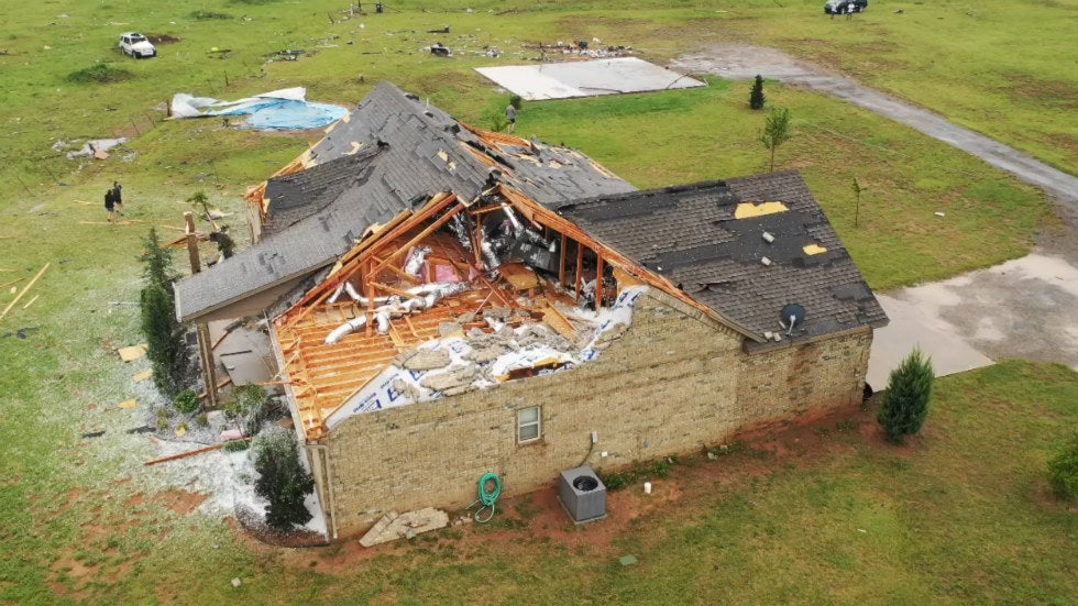 More than a dozen tornadoes were reported in four states