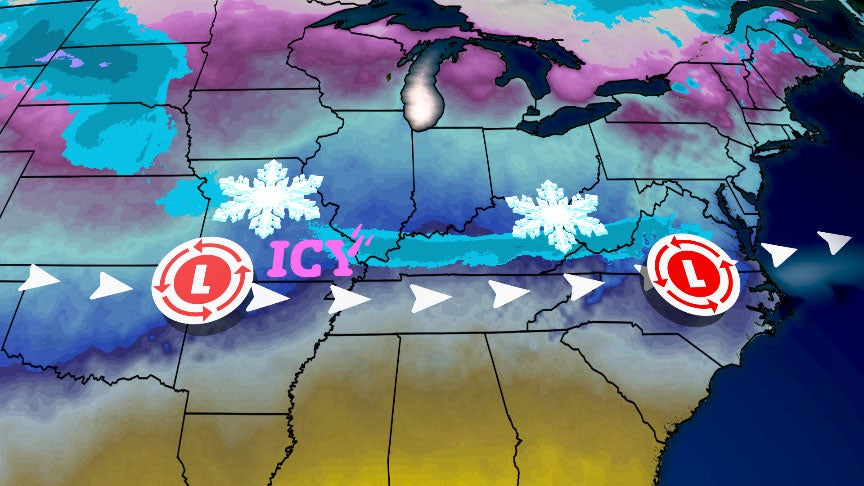 Winter Storm Nadia Bringing Snow and Ice to Midwest