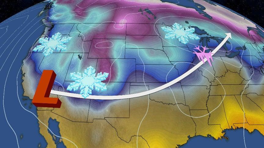 Winter Storm Quiana to Begin Cross-Country Trek
