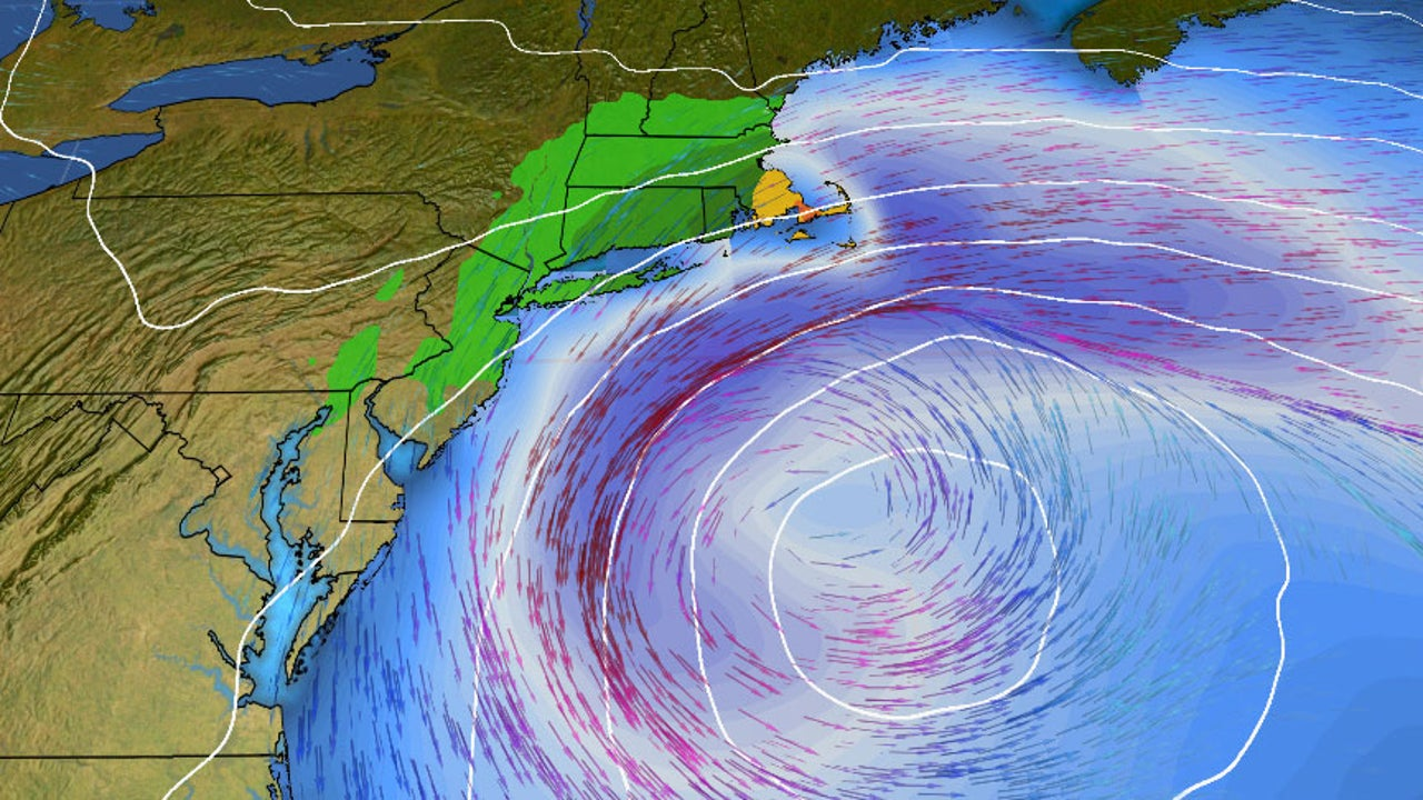 October Nor'easter Slamming Long Island to New England
