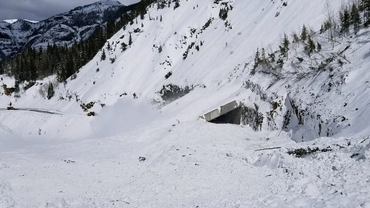 Avalanche control operations on Saturday, March 9, 2019, sent massive amounts of snow and debris onto U.S. 550 in the Red Mountain Pass near Ouray, Colorado. The highway will be closed indefinitely. (Colorado Department of Transportation)