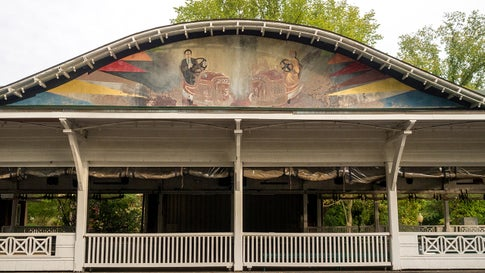 Photographer Liz Roll photographs abandoned Americana throughout the country. The abandoned Americana she photographs include old cars, signage and abandoned storefronts. She found this old, abandoned bumper car pavilion at Glen Echo Park in Maryland. It was once a world class amusement park in the 1920s. (Liz Roll)