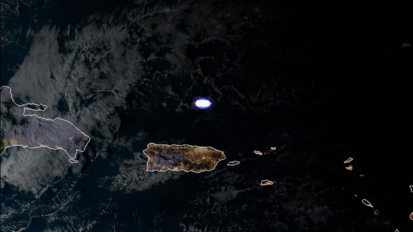 Meteor Explosion Near Puerto Rico Captured by a Satellite