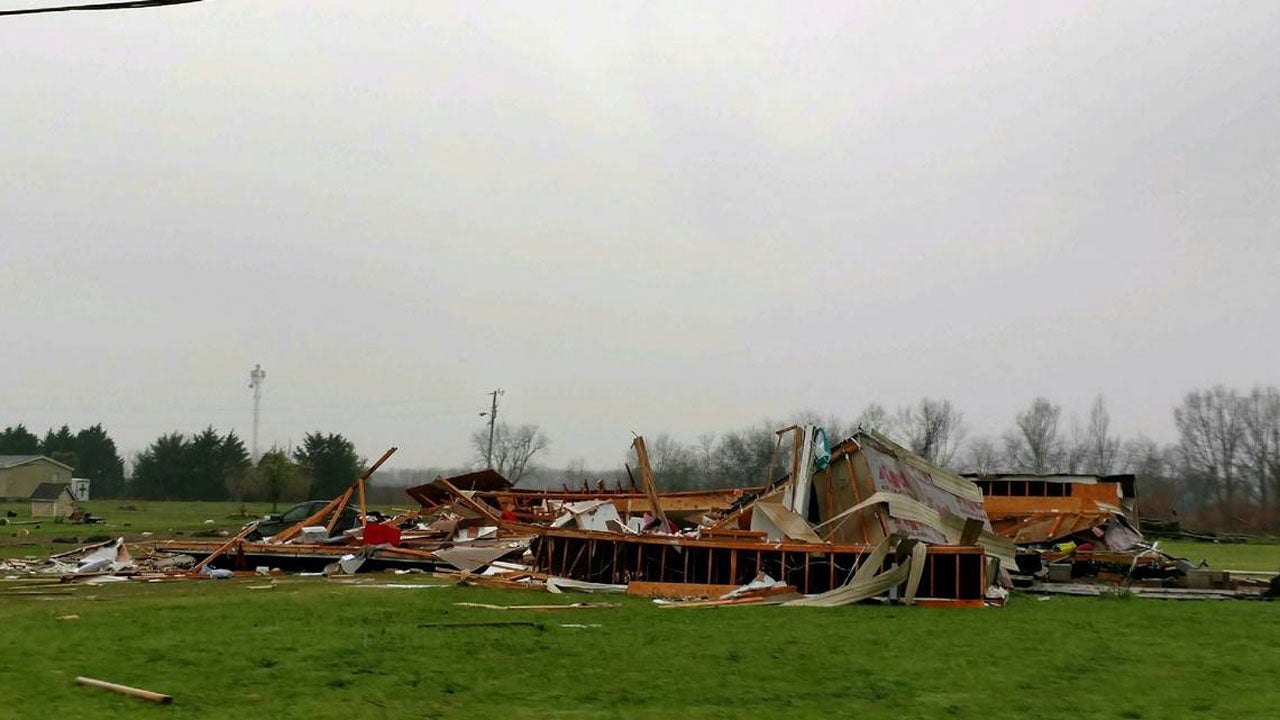 Damage from a severe storm is seen in Crawford County, Georgia, on Sunday, March 3, 2019. (Peach County Sheriff's Office)