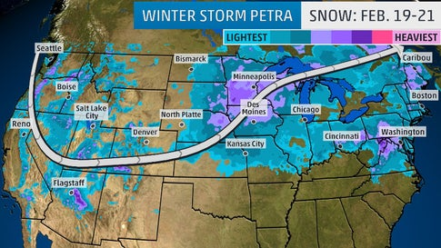 Winter Storm Petra Spreading A Mess Of Snow And Ice Across The