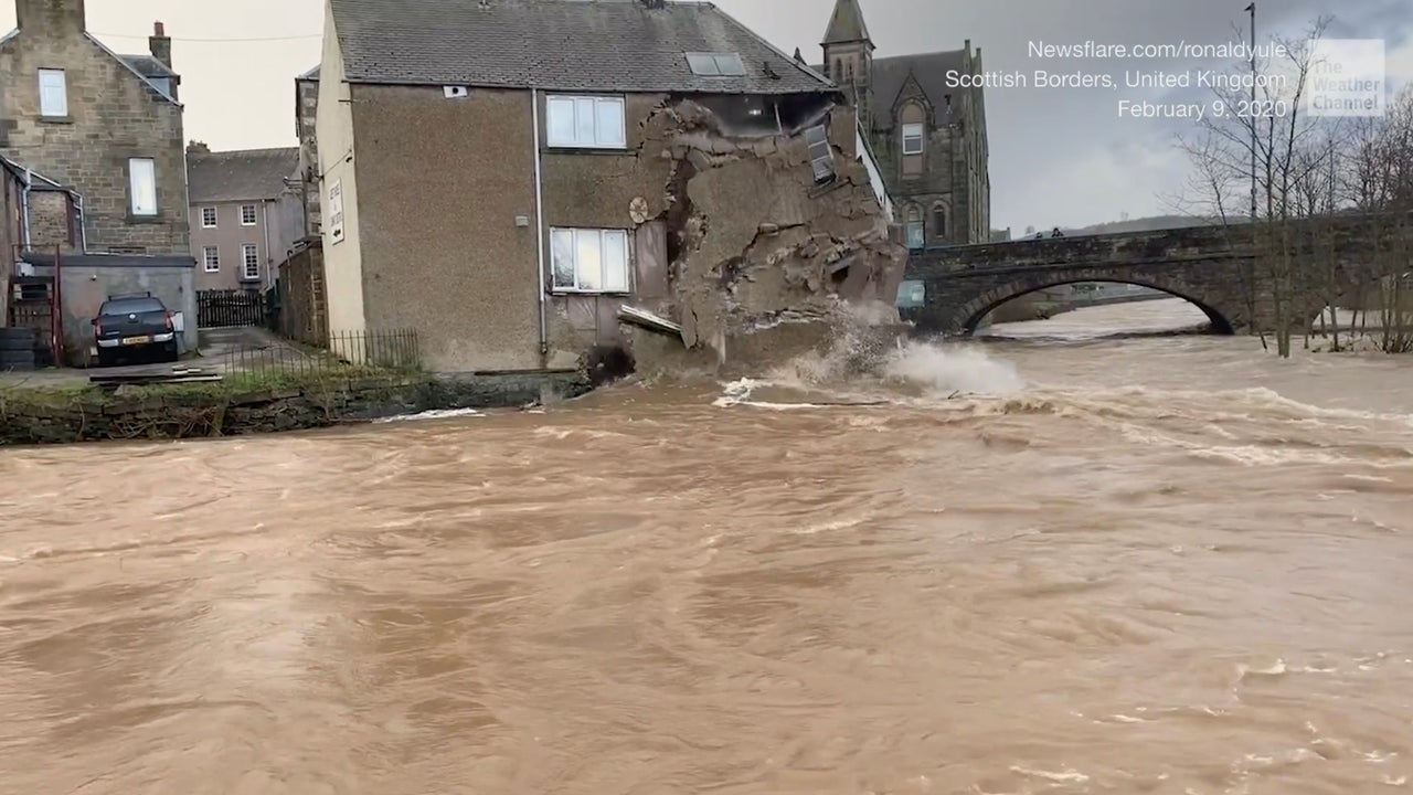 Popular Restaurant Collapses into River