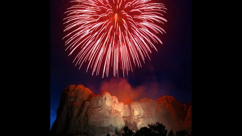 Fireworks explode over Mount Rushmore National Memorial on July 3, 2004, in celebration of Independence Day. (JEFF HAYNES/AFP via Getty Images)