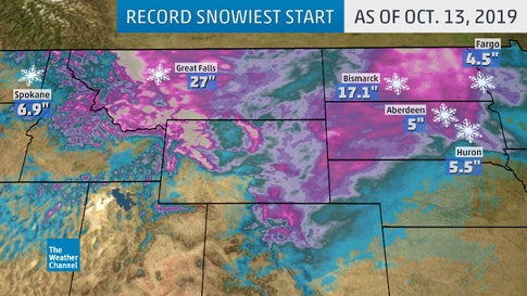 It's a Record-Snowy Start For the Northern Rockies and Plains and Winter Is Still Over 2 Months Away
