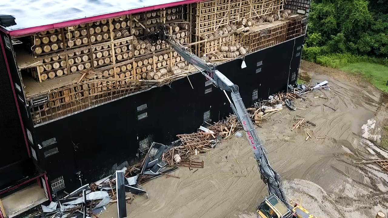 Bourbon Warehouse in Kentucky Partially Collapses in Storm