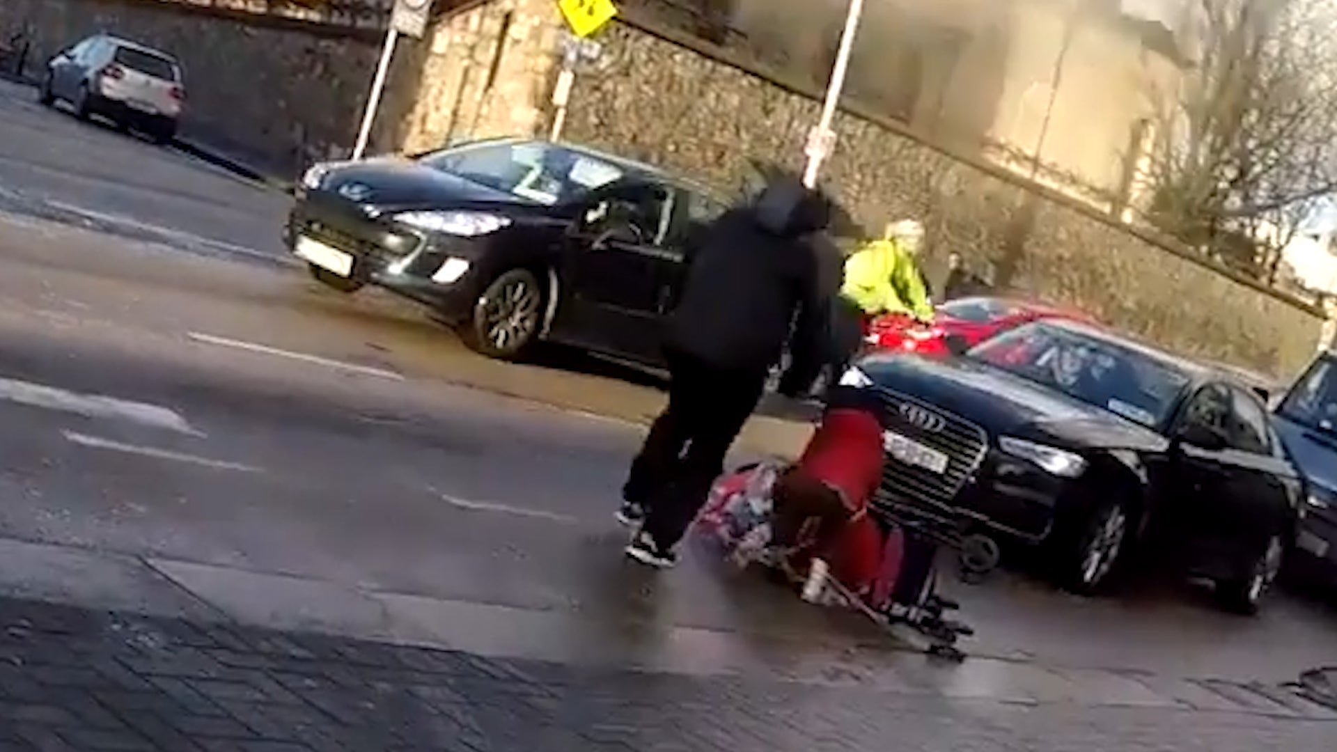 High Winds Push Toddler in Stroller into Oncoming Traffic in Dublin