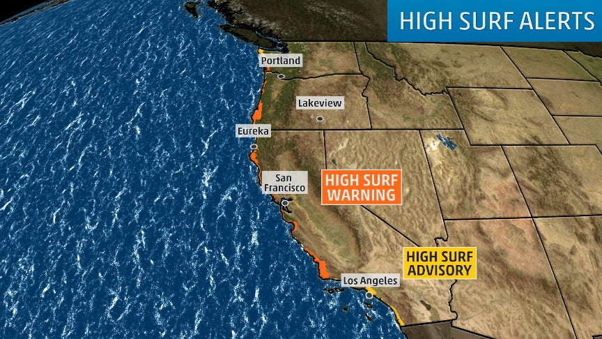 NWS Warns of 'Certain Death' in the Pacific Off CA Coast