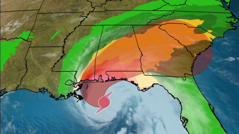 Hurricane Sally Slows to Snail's Pace as It Nears Gulf Coast