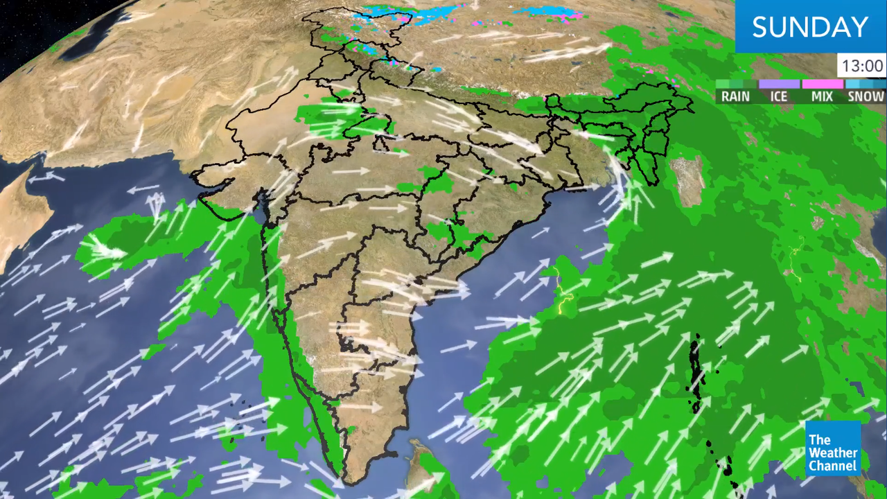 Vayu is forecast to make a landfall near Naliya on Tuesday morning with deep depression or depression intensity.