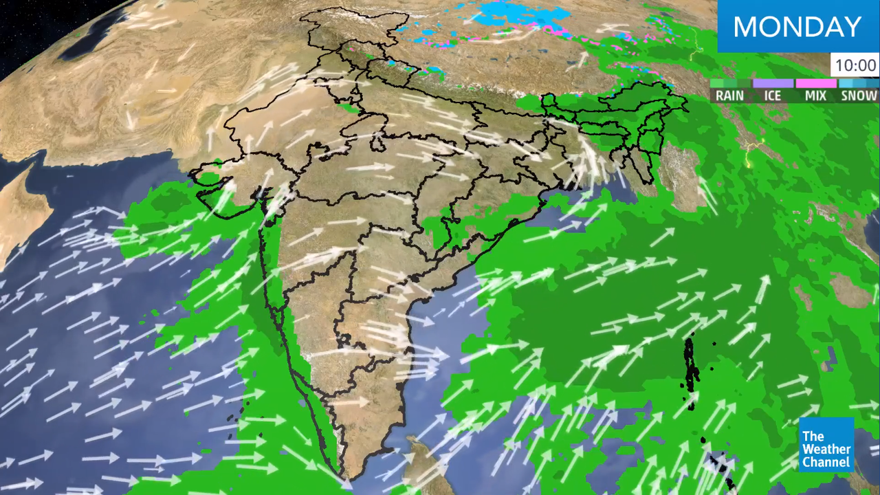 One of the heaviest rounds of rainfall will be seen over Assam, with accumulation up to 90 mm/12 hours.