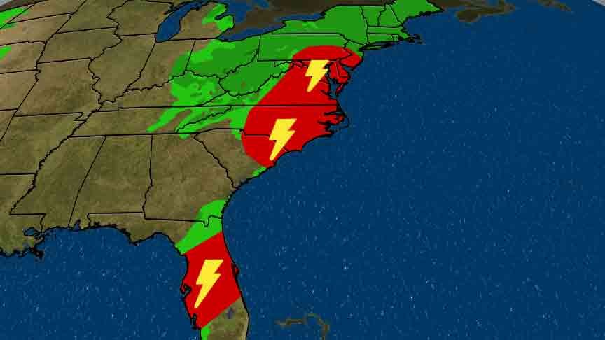 Severe Weather Threat Moves East Today