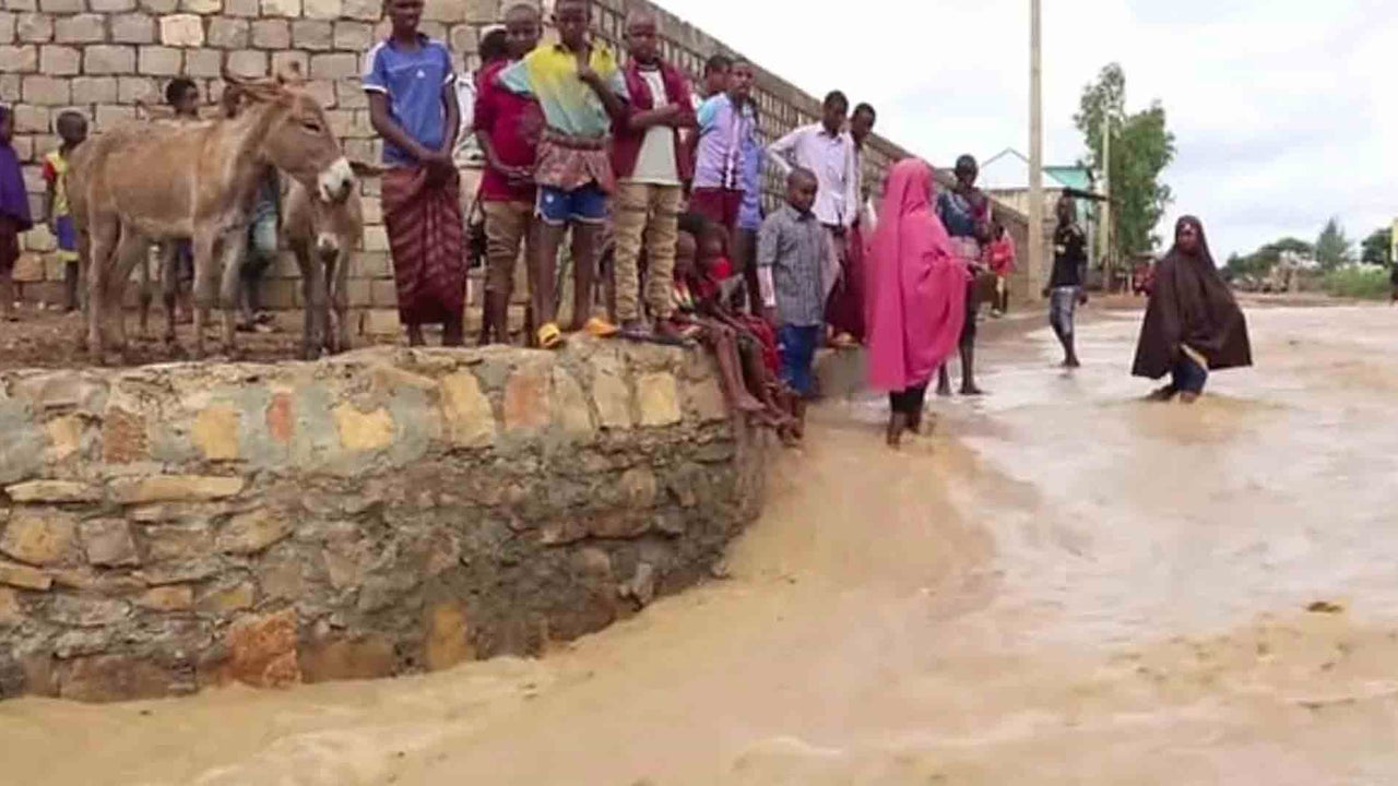 Heavy rainfall is compounding a weather-related crisis in parts of Africa.