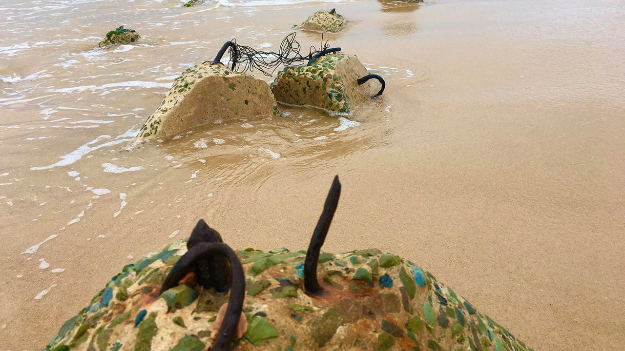 Severe erosion in September washed away much of Stockton Beach in Newcastle and uncovered thousands of tank traps.