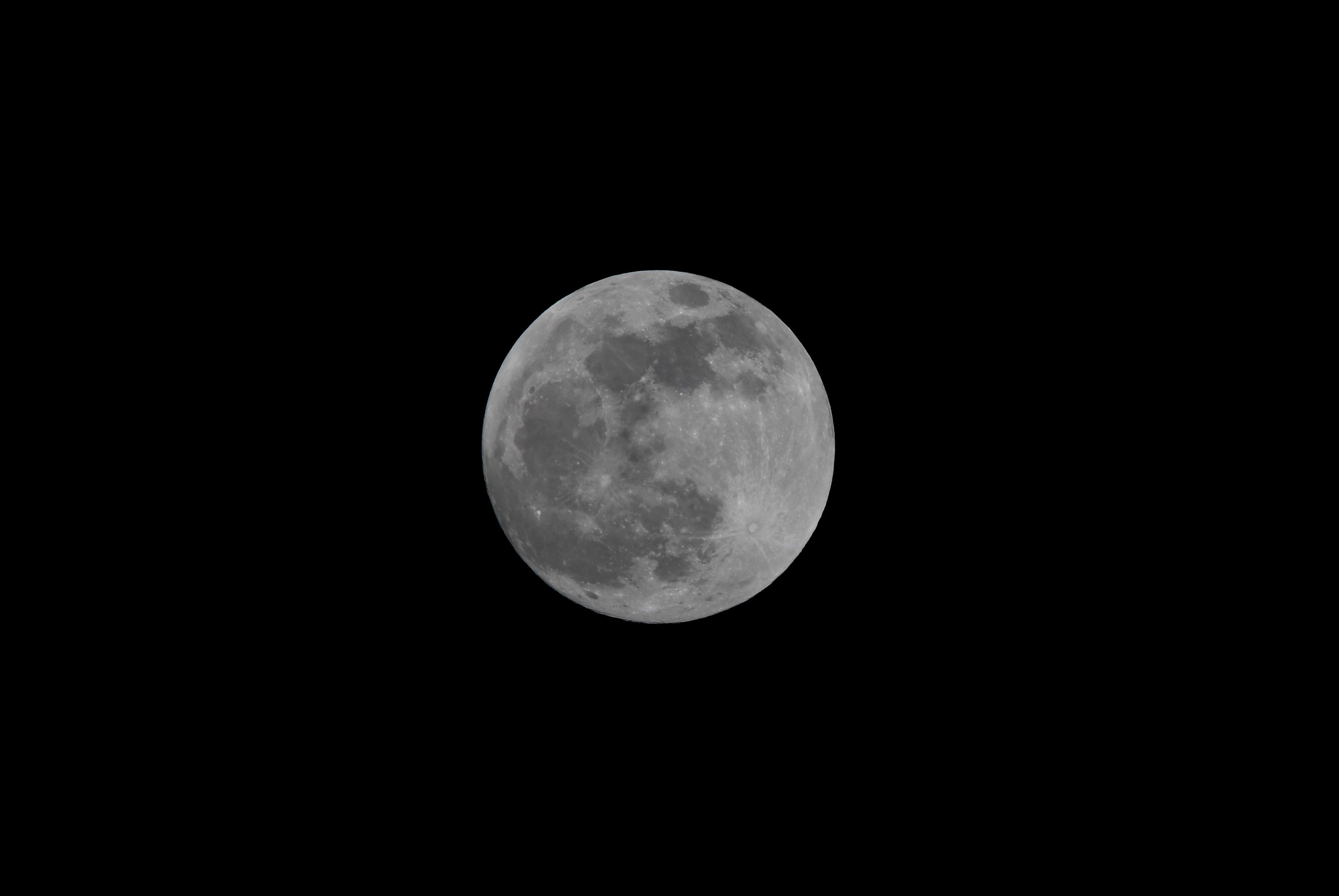 full blue moon lights up the night sky