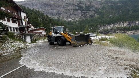 Tour de France Halted by Hailstorm, Mudslide