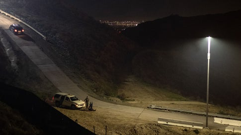 The US-Mexico border between Tijuana and San Diego County is seen from Tijuana, Baja California State, Mexico, on December 26, 2018. (GUILLERMO ARIAS/AFP via Getty Images)