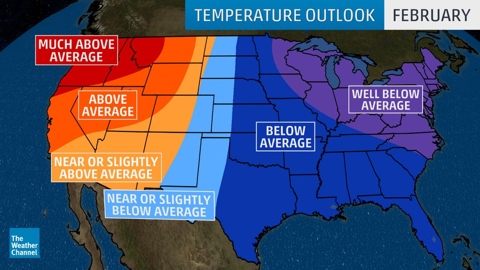 January March 2019 Temperature Outlook Cold In East South Mild In