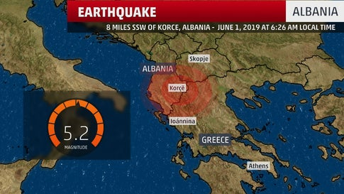 Earthquake Rattles Albania, Injuring 4, Damaging Dozens of Homes