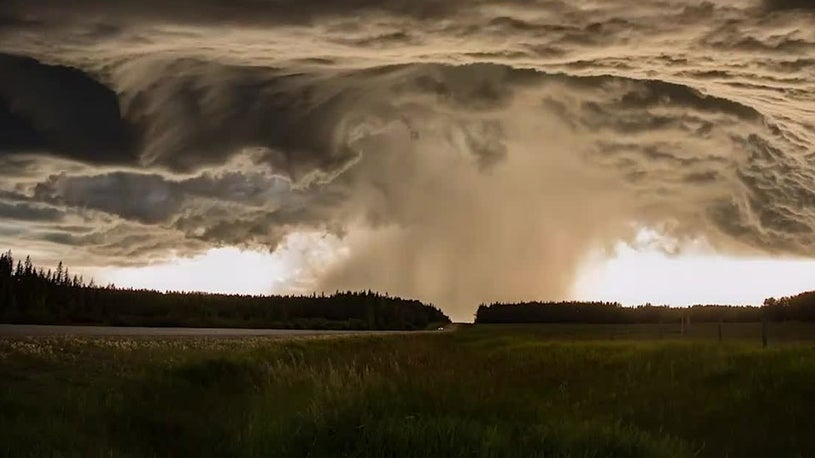 Stunning View of Severe Storm in Alberta