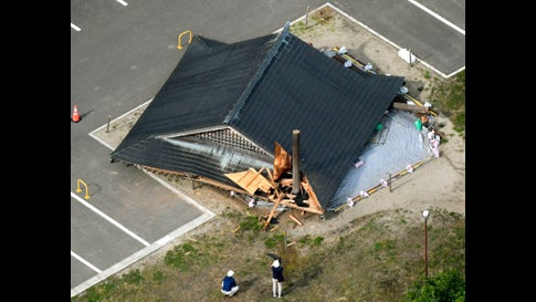 Photos from Japan's 6.4 Magnitude Earthquake