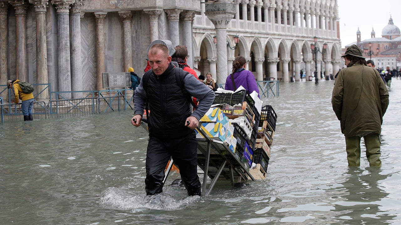 The historic, and vulnerable, city of Venice is being hit by epic flooding.