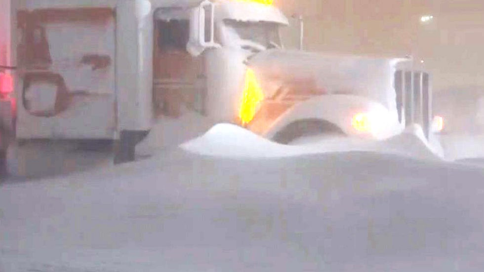 Blizzard Leaves Truckers Stranded in South Dakota