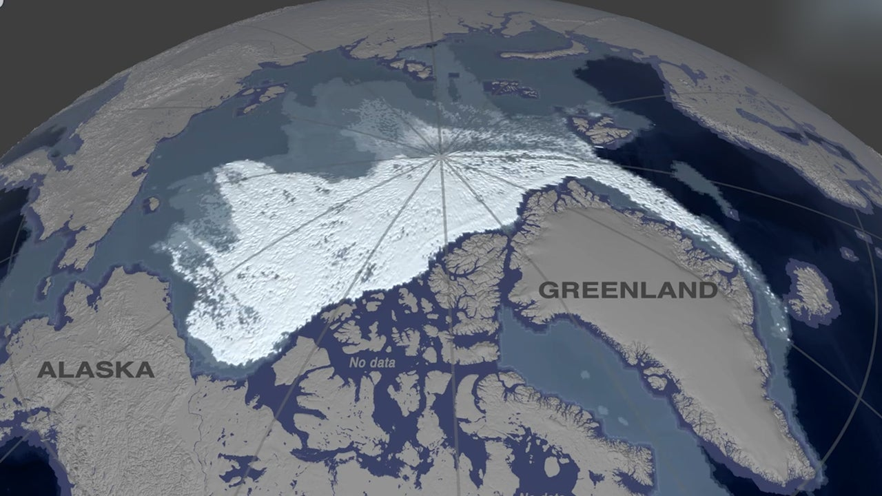 Watch 35 Years of Arctic Ice Shrink in 60 Seconds
