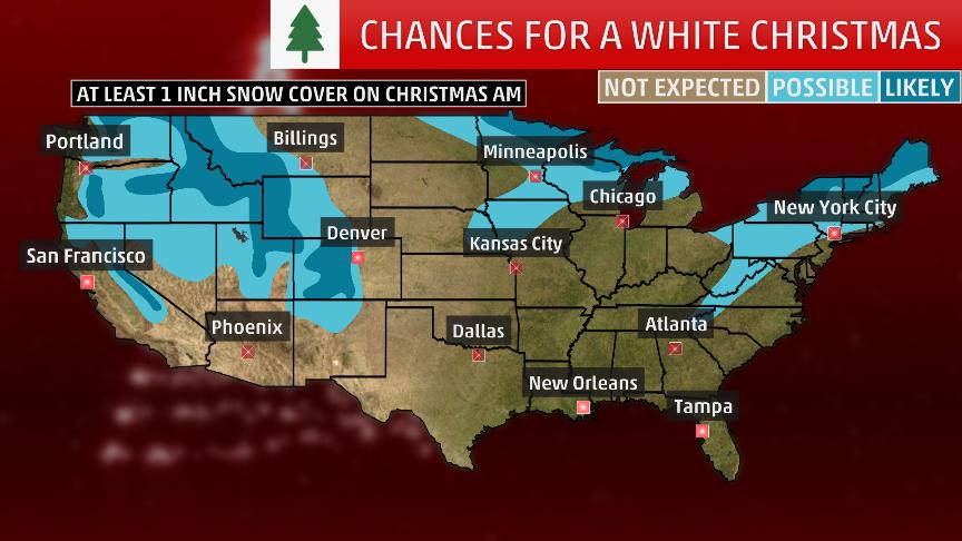 White Christmas 2018 Forecast