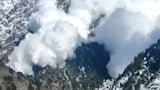 Avalanche Hurtles Down Mountain in Northern India