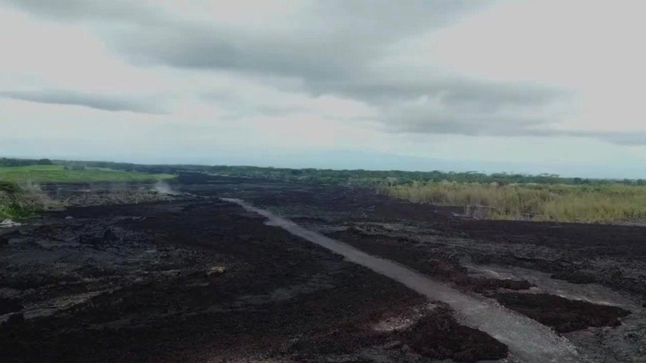 Lava Rock from Last Year's Kilauea Eruption Still 750-Plus Degrees