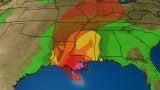 Barry se fortalece frente a la costa de Louisiana