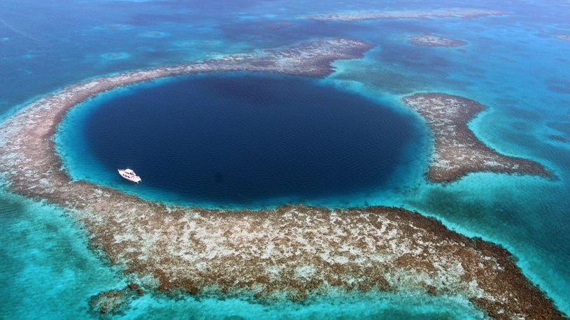 What is the end of the Great Blue Hole? Plastic Trash