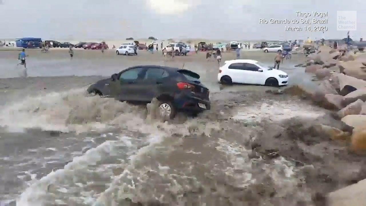 Meteotsunami Causes Panic on Popular Beach in Brazil