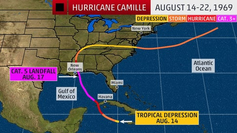 Remembering Camille: One of the Most Intense U.S. Hurricanes Hit 50 Years Ago This Weekend