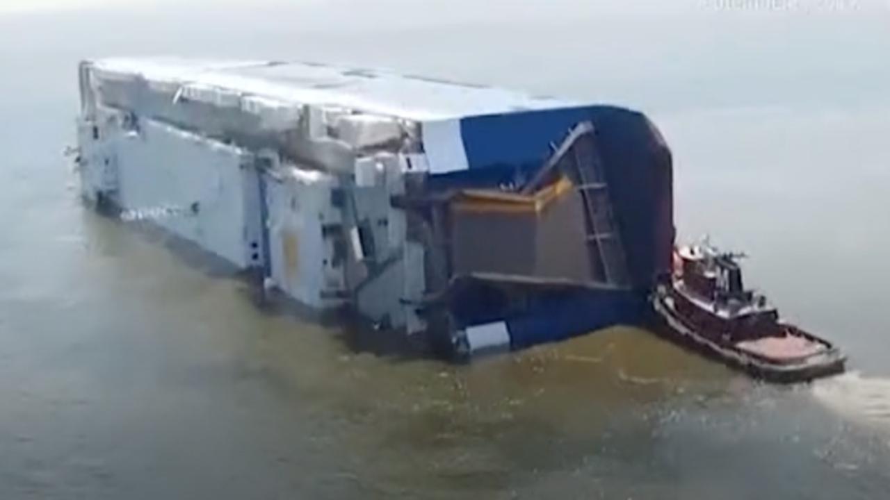 Capsized Cargo Ship Prompts Rescue Mission, Swimming Advisory Near GA