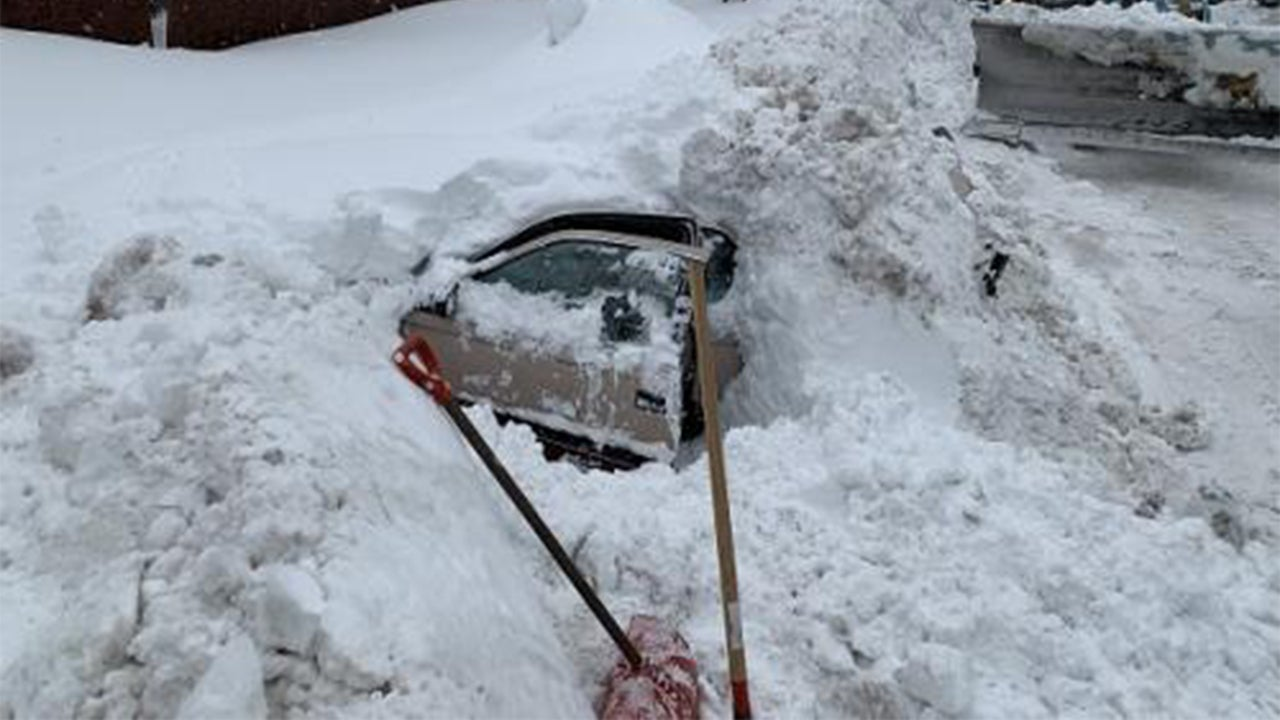 Snow Plow Driver Discovers Buried Car with Person Inside