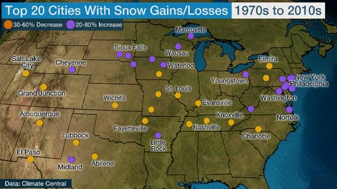 Snow Season is Getting Shorter Across Most of the U.S., New Analysis Finds