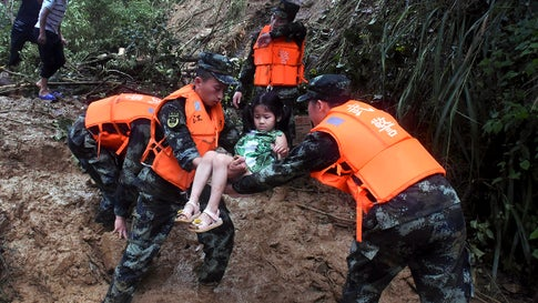 Storms, Floods in China Kill 6 People, Destroy 100 Homes