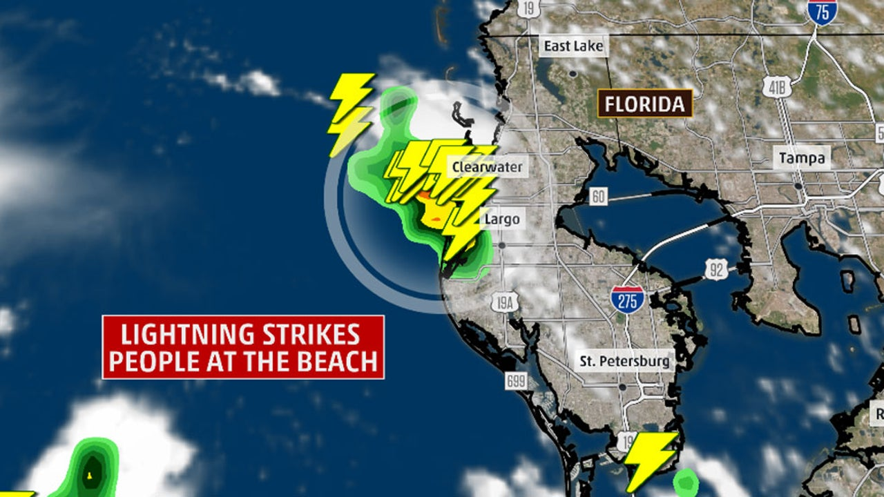 Seven others were injured in the lightning strike on Clearwater Beach