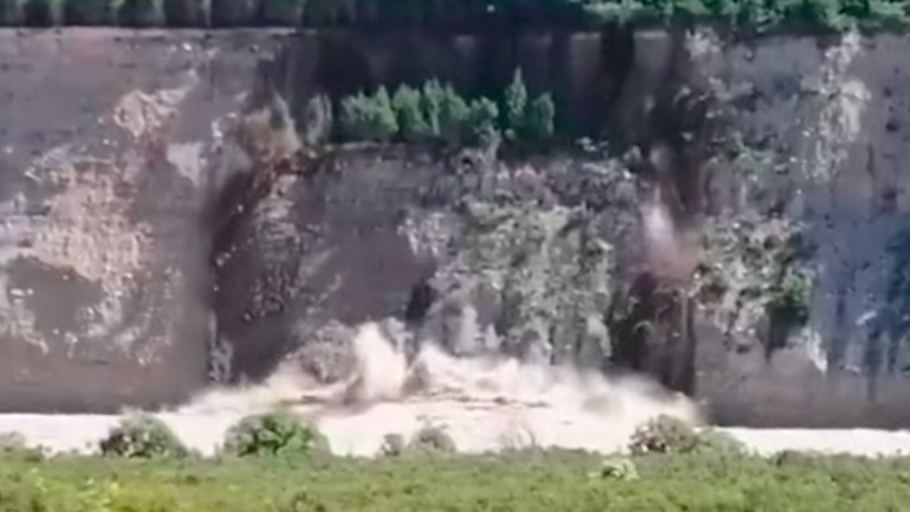 The landslide was caused by days of heavy rain