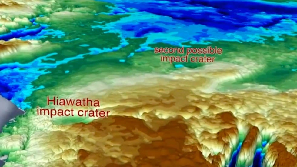 NASA Discovers 2nd Crater Under Greenland's Ice