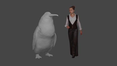 Groß wie ein Mensch: Forscher finden Überreste von Riesen-Pinguin