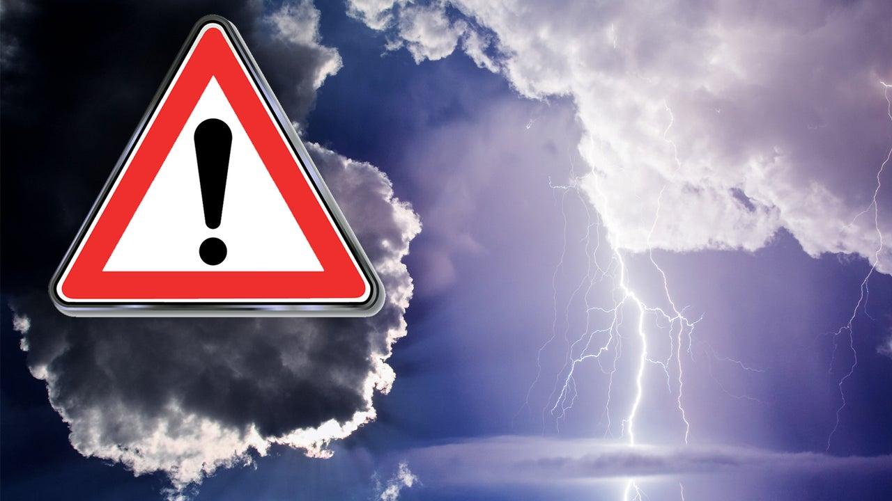 Hier drohen heute schwere Unwetter mit Starkregen und Hagel