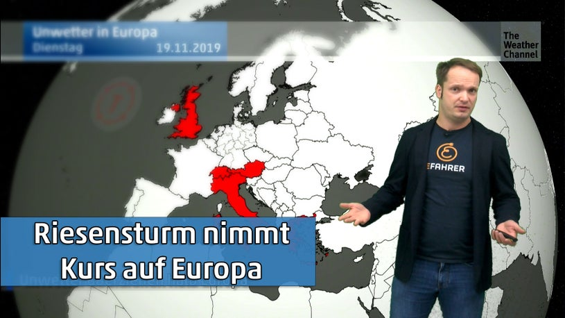 Noch mehr Schnee und Fluten: Monstersturm Jörg nimmt Kurs auf Europa
